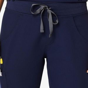 Figs Navy Blue scrub bottoms xs